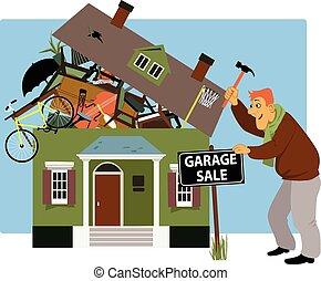 vendita garage, tempo