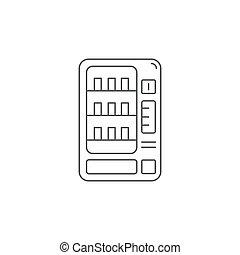 vendita, segno, illustrazione, vettore, fondo, icona, macchine