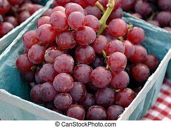 vendita, uva, rosso