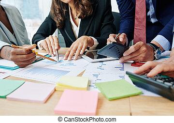 vendite, rapporto affari, discutere, persone
