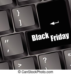 venerdì, sfondo nero, illustrazione, tastiera