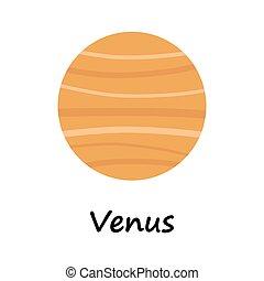 venere, pianeta, illustrazione, cartone animato