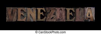 venezuela, tipo, legno, vecchio
