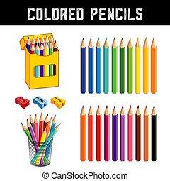 venti, colori, matite colorate, arcobaleno