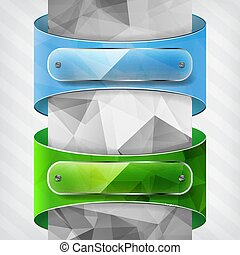 verde blu, trasparenza, triangolo, piastre, etichette