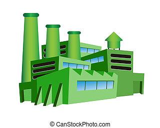 verde, fabbrica