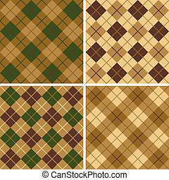 verde-marrone, modello, argyle-plaid