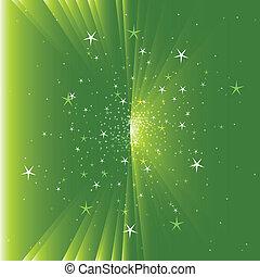 verde, multi, stella, fondo