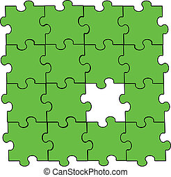 verde, pezzo enigma, montaggio