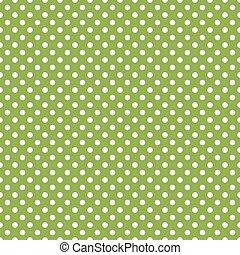 verde, polka, seamless, puntino, fondo