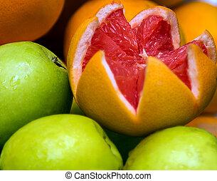 verde, pompelmo, mela