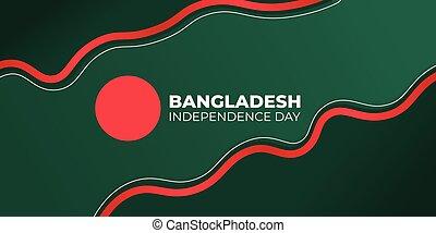 verde rosso, linea, fondo, design., day., astratto, indipendenza, bangladesh
