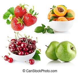 verde, set, foglia, frutta, fresco