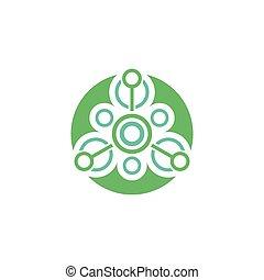 verde, simbolo, astratto, foglia, ecologia