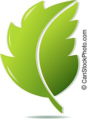 verde, simbolo, foglia