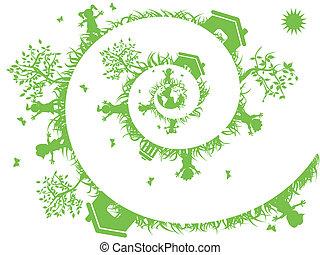 verde, spirale
