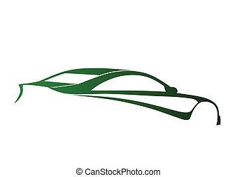 verde, sport, super, auto