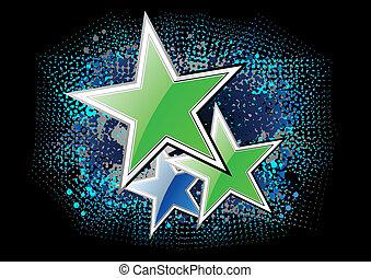 verde, stelle