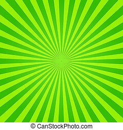 verde, sunburst, giallo