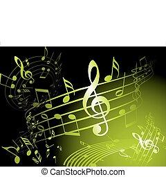 verde, tema, musica