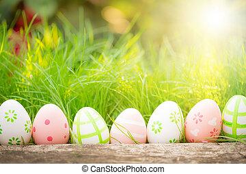 verde, uova, erba, pasqua