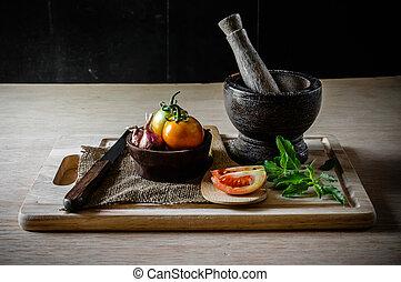 verdura, apparecchiatura, vita, cottura, ancora