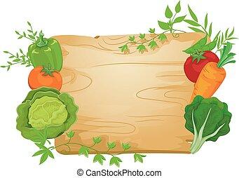verdura, asse, illustrazione, segno