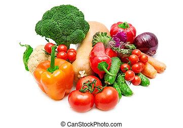 verdura, bianco, isolato, fondo