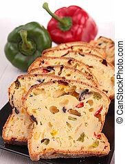 verdura, bread