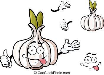 verdura, cavoletti di bruxel, verde, cartone animato, aglio