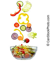 verdura, cibo, insalata, dieta