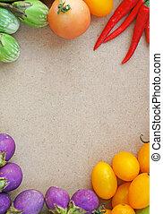 verdura, cornice, colorito