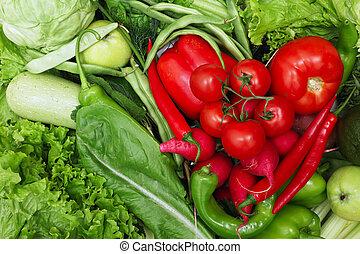 verdura, cuore, rosso