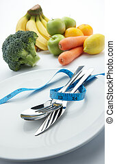 verdura, dieta, frutte
