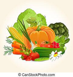 verdura, disegno, succoso, tuo