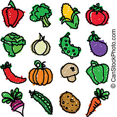 verdura, doodles