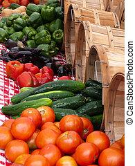verdura, estate, produrre, mercato esterno