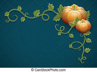 verdura, foglie, verde, zucca