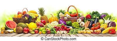 verdura, fondo, frutte