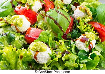 verdura, formaggio, insalata