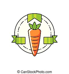 verdura, fresco, carota, sigillo, francobollo