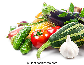 verdura, fresco, foglie, verde