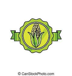 verdura, fresco, granaglie, sigillo, francobollo