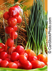 verdura, fresco, -, pomodoro