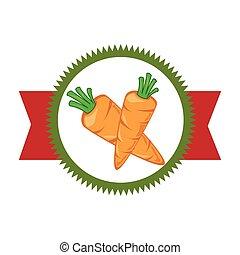 verdura, fresco, prodotto, sigillo