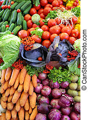 verdura, fresco, varietà, verticale, foto