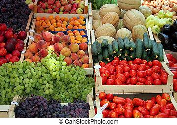 verdura, frutta, mercato