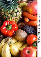 verdura, frutta, selezione