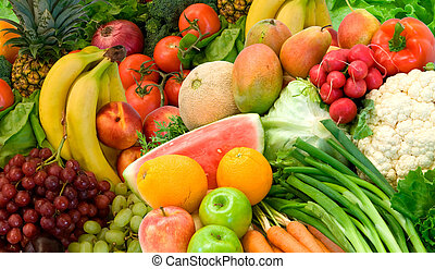 verdura, frutte, disposizione