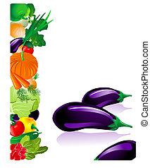 verdura, melanzana